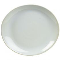 Terra Stoneware Oval Plate Rustic White 25 x 22cm