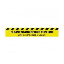 Please Stand Behind This Line Until Forward Space Is Vacant Floor Graphic 100x600mm