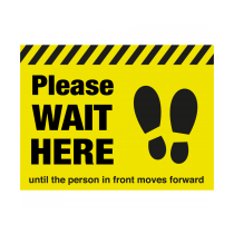 Please Wait Here Until The Person In Front Moves Forwards Floor Graphic 300 x 400mm