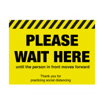 Please Wait Here Until The Person Moves In Front Floor Graphic 300 x 400mm
