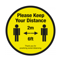 Please Keep Your 2 Metre Social Distancing Floor Graphic 400mm
