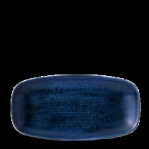 Churchill Stonecast Plume Ultramarine Chefs' Oblong Plate No.3 29.8 x 15.3cm