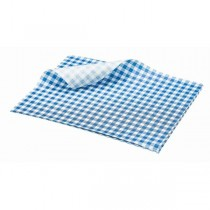Greaseproof Paper Blue Gingham Print 25 x 20cm