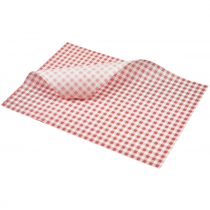 Greaseproof Paper Red Gingham Print 35 x 25cm