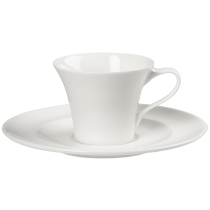 Portland Academy Classic White Double Well Saucer 15cm