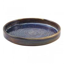 Terra Porcelain Aqua Blue Presentation Plate 18 x 2.6cm