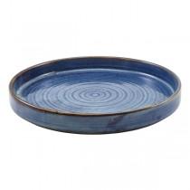 Terra Porcelain Aqua Blue Presentation Plate 21 x 2.9cm