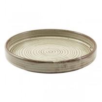 Terra Porcelain Grey Presentation Plate 18 x 2.1cm