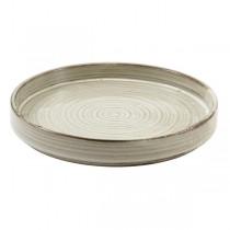 Terra Porcelain Grey Presentation Plate 21 x 2.1cm