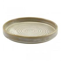 Terra Porcelain Smoke Grey Presentation Plate 18 x 2.6cm