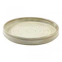 Terra Porcelain Matt Grey Presentation Plate 21 x 2.9cm