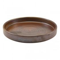 Terra Porcelain Rustic Copper Presentation Plate 18 x 2.1cm