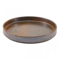 Terra Porcelain Rustic Copper Presentation Plate 21 x 2.1cm
