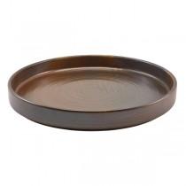 Terra Porcelain Rustic Copper Presentation Plate 26 x 2.1cm