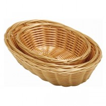 Oval Polywicker Basket 25.4 x 16.5cm