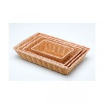 Rectangular Polywicker Basket 25.4 x 17.75cm