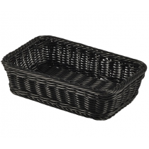 Polywicker Display Basket GN 1/4 Black