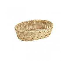 Oval Polywicker Basket Natural 22.5 x 15.5 x 6.5cm