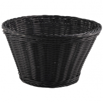 Polywicker Display Basket Black 26cm