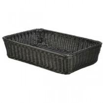Polywicker Display Basket Black 46 x 31 x 10cm