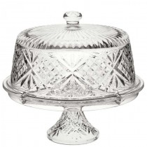 Vintage Cake Dome & Stand 30cm