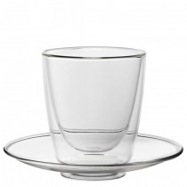 Double Walled Cappuccino Cup and Saucer 7.75oz (22cl)
