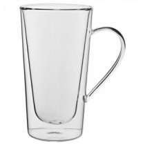 Double Walled Tall Handled Latte Glass 12oz