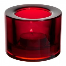 Chunky Red Tealight Holder