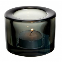 Chunky Black Tealight Holder