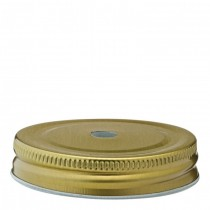 **Drinking Jar Gold Lid with Straw Hole (7cm)**