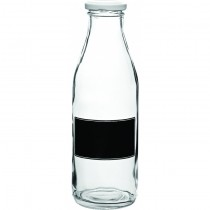 Lidded Bottle with Blackboard Design 0.5 Litre (17.5oz)