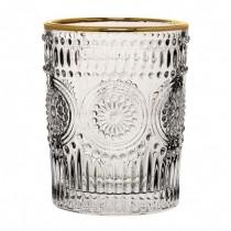 Rossetti Double Old Fashioned Gold Rim Glasses 10.25oz / 29cl