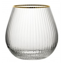 Hayworth Stemless Gin Glasses Gold Rim 22oz / 650ml
