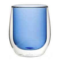 Double Wall Water Glass Blue 9.7oz