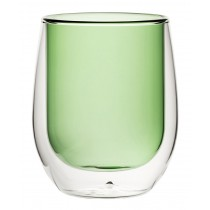 Double Wall Water Glass Green 9.7oz