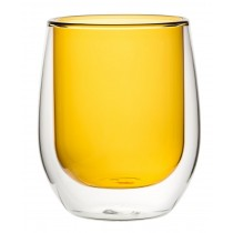 Double Wall Water Glass Amber 9.7oz