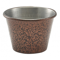 Hammered Copper Effect Stainless Steel Ramekin 2.5oz