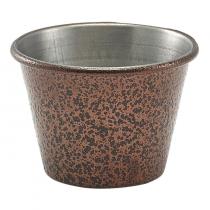 Hammered Copper Effect Stainless Steel Ramekin 2.5oz
