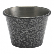 Hammered Silver Effect Stainless Steel Ramekin 2.5oz