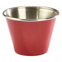 Stainless Steel Ramekin Red 2.5oz