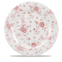 Churchill Vintage Prints Cranberry Rose Chintz Plate 30.5cm