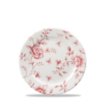 Churchill Vintage Prints Cranberry Rose Chintz Plate 17cm