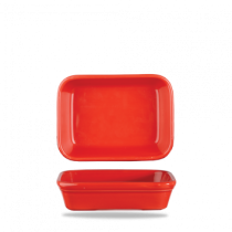 Churchill Cookware Shallow Rectangular Dish Red 15.5 x 11.5 x 4cm