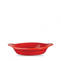 Churchill Cookware Small Round Eared Dish Red 15 x 18cm