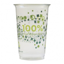 Recyclable Printed r-PET Pint To Brim Tumbler CE 20oz / 568ml