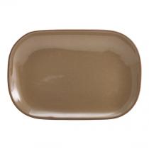 Terra Stoneware Rectangular Plate Rustic Brown 24 x 16.5cm