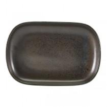 Terra Porcelain Black Rectangular Plate 24 x 16.5cm