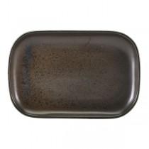 Terra Porcelain Black Rectangular Plate 29 x 19.5cm
