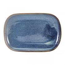 Terra Porcelain Aqua Blue Rectangular Plate 24 x 16.5cm
