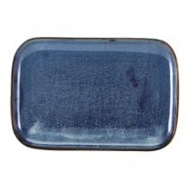 Terra Porcelain Aqua Blue Rectangular Plate 34.5 x 23.5cm